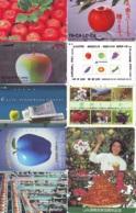 10 Télécartes - Prepaid Différentes JAPON *  APFEL * POMMES (LOT A-102) JAPAN 10 DIFF APPLES PHONECARDS * 10 VERSCH TK - Blumen