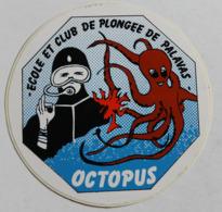 Rare Autocollant école Et Club De Plongée De Palavas Les Flots Octopus Pieuvre - Diving