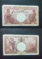 ROMANIA 2000 LIES BANKNOTE 1ST SEPTEMBER 1943 CIRCULATED LOOK !! - Rumania