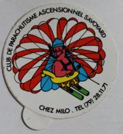 Rare Autocollant Club De Parachutisme Ascensionnel Savoyard Chez Milo Savoie - Parachutting