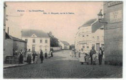 Perwez - La Grand'Place - Ed. J. Hacquart - Animée - Au Petit Bon Marché - Perwez