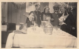 HALLOWEEN PARTY COSTUMES MASKS VINTAGE REAL PHOTO POSTCARD 20s - Halloween