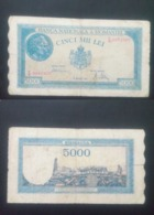 ROMANIA 5000 LIES BANKNOTE 2Oth DECEMBER 1945 CIRCULATED LOOK !! - Rumania