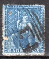Barbados Queen Victoria Single Used Stamp. - Barbados (...-1966)