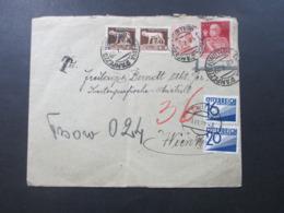 Italien 1929 Nr. 222 Ungültig!! Beleg Nach Wien Mit 2 Österreichischen Nachporto Marken 36 Groschen Nachporto - Portomarken