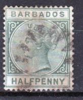 Barbados Queen Victoria Single Half Penny Used Stamp. - Barbados (...-1966)