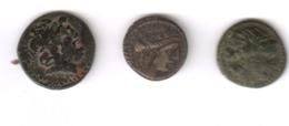 3 Uitzonderlijke  Originele Griekse Munten, Een Echte  TOPaanbieding! - Griegas