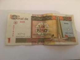 Billet Un Peso Convertibles Cuba 1994 - Cuba