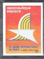 Aviation, Aeronautique Espace, Vignette Du 31e Salon International De Paris Le Bourget 1975 - Commemorative Labels