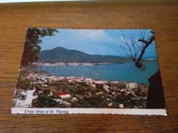 148640 MACCHIA AL CENTRO CARTOLINA POSTCARD  ST THOMAS U S VIRGIN ISLANDS - Jungferninseln, Amerik.