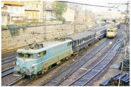 Toulouse (31 - France)  Février 1987 - Une BB 9200 En Tête D'une Rame Voyageurs SNCB A Destination De Narbonne - Gares - Avec Trains