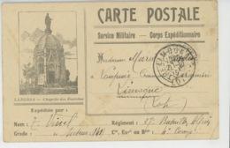 GUERRE 1914-18 - Carte De Correspondance - Corps Expéditionnaire - Avec Vue De La Chapelle Des Fourches à LANGRES -1915 - Guerre 1914-18