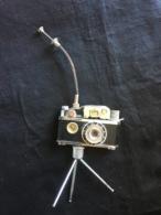 Briquet  - Photo-Flash   à Essence ( Complet Avec Le Pied Et Le Déclencheur Et Boussole )   K.K.W. - P.P. - 13449 - Lighters