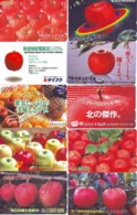 10 Télécartes - Prepaid Différentes JAPON *  APFEL * POMMES (LOT A-113) JAPAN 10 DIFF APPLES PHONECARDS * 10 VERSCH TK - Alimentazioni