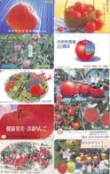 10 Télécartes - Prepaid Différentes JAPON *  APFEL * POMMES (LOT A-116) JAPAN 10 DIFF APPLES PHONECARDS * 10 VERSCH TK - Alimentazioni