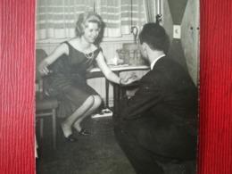 COUPLE DANSE DE CANARDS PETIT LOT DE 21 PHOTOS ORIGINALES EN NOIR-BLANC BELGIQUE LITTORAL - Albums & Collections