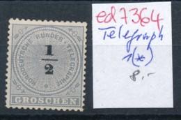 Norddeutsche Post  Telegraph 1 (*)   ( Ed7364  ) Siehe Scan - Conf. De L' All. Du Nord