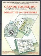 MONACO -- MONTE CARLO -- Carte Postale --GRANDE BOURSE Du 30 Septembre 2007 - Monte-Carlo