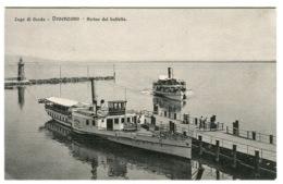 Lago Di Garda Desenzano Arrivo Del Battello Navi C. 1908 - Brescia