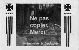 Dadizele - Westflandern - Kircheninneres -  Carte Photo Allemande-Guerre 14-18-1WK - Non Classificati