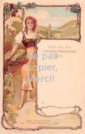 57 - Metz - Gruss Aus Dem Weinrestaurant Brauneberg - Lithografie - Künstlerkarte - Metz