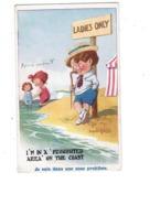 Cpa Illustration Humour DONALD MAC GILL - Garçon Fillette Baigneuse Maillot De Bain - LADIES ONLY - - Mc Gill, Donald