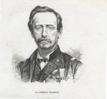 Gravure 1873 Commune De Paris - Général Cluseret Suresnes - Historical Documents