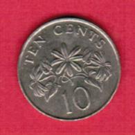 SINGAPORE  10 CENTS 1987 (KM # 51) #5406 - Singapore