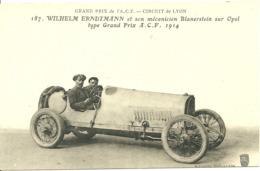 Grand Prix De L' A. C. F.  - Circuit De LYON -  WILHELM  ERNDTMANN Et Son Mécanicien Blanerstein Sur Opel - Lyon