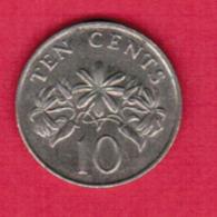 SINGAPORE  10 CENTS 1988 (KM # 51) #5407 - Singapur