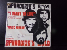"45 T Aphrodite's Child "" I Want To Live, Magic Mirror "" - Vinyl Records"