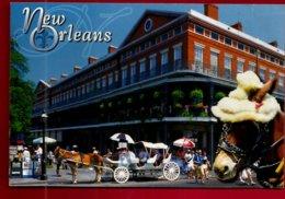 CP Etats Unis Louisiane New Orleans Pontalba Apartments French Quartier Français Cheval Horse Attelage Carriole Calèche - New Orleans