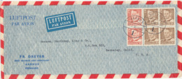 Denmark Air Mail Cover Sent To USA Aarhus 11-2-1956 Fr. Dreyer Seed Grower And Merchant - Airmail