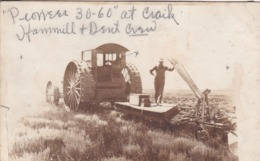 TRACTEUR MOISSONNEUSE CARTE PHOTO - Tracteurs