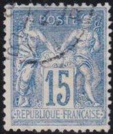 France  .   Yvert   .    101     .     O          .       Oblitéré - 1898-1900 Sage (Type III)