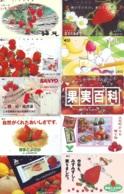 10 Télécartes - Prepaid Différentes JAPON * FRAISE (LOT A-118) JAPAN 10 DIFF STRAWBERRIES * PHONECARDS * 10 VERSCH TK - Alimentazioni
