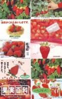 10 Télécartes - Prepaid Différentes JAPON * FRAISE (LOT A-124) JAPAN 10 DIFF STRAWBERRIES * PHONECARDS * 10 VERSCH TK - Alimentazioni