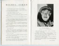 PROGRAMME THEATRE ANTOINE 1950 FRIC-FRAC DE MARCEL ACHARD AVEC MICHEL SIMON JACQUELINE POREL - Programme
