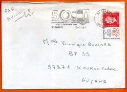 MAURY N° 2859  MARIANNE DE DULAC  68 THANN1994  Lettre Entière N° OO 829 - Marcophilie (Lettres)