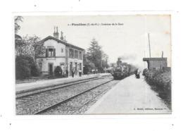 22 - PLEUDIHEN : Intérieur De La Gare, Train, Thème Chemin De Fer, - Francia