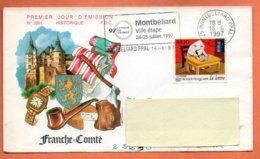 MAURY N° 3048  LA LETTRE  25 MONTBELIARD  1997  Lettre Entière N° OO 831 - Storia Postale