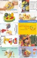 10 Télécartes - Prepaid Différentes JAPON * BANANES (LOT A-127) JAPAN 10 DIFF BANANAS * PHONECARDS * 10 VERSCH TK - Alimentazioni
