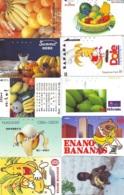 10 Télécartes - Prepaid Différentes JAPON * BANANES (LOT A-128) JAPAN 10 DIFF BANANAS * PHONECARDS * 10 VERSCH TK - Alimentazioni