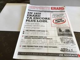 Publicité Support Erard Actualité 1978 Offre Limitée.pont De Cheruy - Advertising