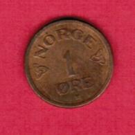 NORWAY  1 ORE 1955 (KM # 398) #5413 - Norway