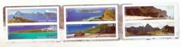 Polynésie  1001/1006 Paysages En Carnet   Neuf ** MNH Sin Charmela Faciale 5 - Polynésie Française