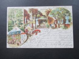 Mehrbildkarte 1898 Zweisprachig Vaals Bei Aachen Hotel Restaurant Geller, Stephans Ruh Litho Th. Wendisch, Berlin - Vaals