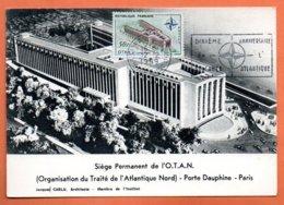 MAURY N° 1228     OTAN (flamme Concordante )   PARIS 1959  Carte N° OO 836 - Storia Postale