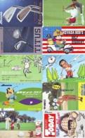 10 Télécartes - Prepaid Différentes JAPON * SPORT GOLF (LOT A-129) JAPAN 10 DIFFERENT GOLF * PHONECARDS * 10 VERSCH TK - Sport