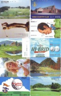 10 Télécartes - Prepaid Différentes JAPON * SPORT GOLF (LOT A-131) JAPAN 10 DIFFERENT GOLF * PHONECARDS * 10 VERSCH TK - Sport
